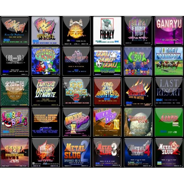 SNK NEO GEO X CARD VOL3 MORE 180 GAMES FIRMWARE 0 45