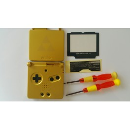 HOUSING/SHELL/CARCASA PARA GAME BOY ADVANCE ZELDA GOLD NEW