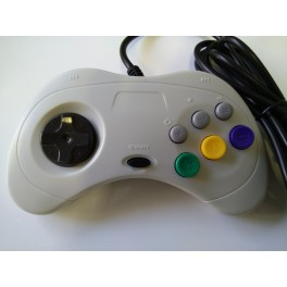 SEGA SATURN CONTROLLER WHITE COMPATIBLE NEW